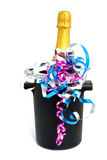 Champagne dans le refroidisseur Image libre de droits