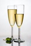 Champagne dans une cannelure photographie stock libre de droits