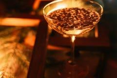 Champagne-de dranken van de de vieringspartij van glaskerstmis Stock Foto