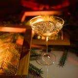 Champagne-de dranken van de de vieringspartij van glaskerstmis Royalty-vrije Stock Foto