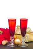 Champagne 2012 de Noël Images libres de droits