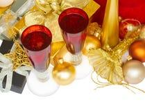 Champagne 2012 de Noël Photos stock