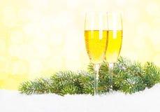 Champagne 2012 de Noël Photo libre de droits