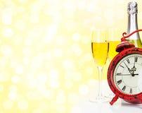 Champagne 2012 de Noël Photos libres de droits