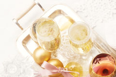 Champagne 2012 de Noël Image libre de droits