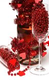 Champagne de Valentine Images libres de droits