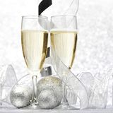 Champagne and decor royalty free stock photos