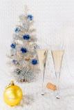 Champagne dei bicchieri di vino Fotografia Stock Libera da Diritti