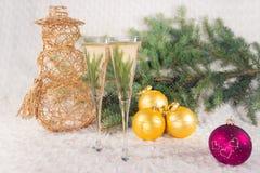 Champagne dei bicchieri di vino Immagini Stock