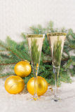 Champagne dei bicchieri di vino Immagine Stock Libera da Diritti