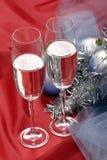 Champagne dei nuovi anni Fotografia Stock