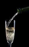 Champagne del servizio Immagini Stock