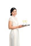 Champagne del servizio Immagini Stock Libere da Diritti