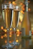 Champagne in den Gläsern Stockbild