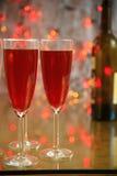 Champagne in den Gläsern stockfotos