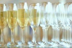 Champagne in den Gläsern Lizenzfreies Stockbild