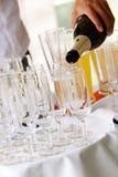Champagne derrama Foto de Stock