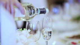 Champagne di caduta archivi video