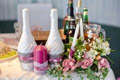 Champagne di cerimonia nuziale immagini stock
