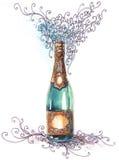 Champagne di festa Fotografia Stock