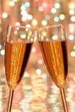 Champagne di natale Fotografia Stock Libera da Diritti