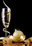 Champagne di natale Immagine Stock Libera da Diritti