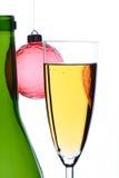 Champagne di natale Immagine Stock