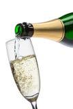 Champagne di versamento Fotografia Stock Libera da Diritti