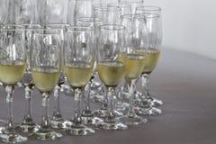 Champagne di vetro Fotografia Stock