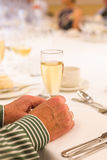 Champagne at a dinner party Stock Images