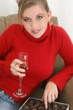 Champagne e chocolates Foto de Stock Royalty Free