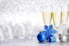 Champagne e decoração Imagem de Stock Royalty Free