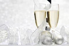 Champagne e decorazione Immagine Stock Libera da Diritti