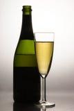 Champagne e flauta Fotografia de Stock Royalty Free