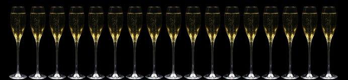 Champagne e fuochi d'artificio Immagini Stock