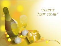 Champagne e tempo da comemoração Imagem de Stock