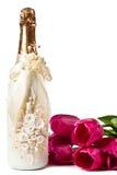 Champagne e tulips Imagens de Stock