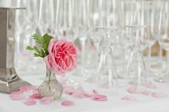 Champagne e vetri alla celebrazione Fotografia Stock