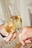 Champagne e vetri alla celebrazione Fotografia Stock Libera da Diritti