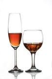 Champagne e vino Fotografie Stock Libere da Diritti