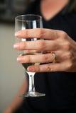 Champagne ed anello Fotografie Stock Libere da Diritti