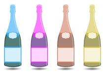 Champagne Eine Flasche Wein Vektorillustration in einer flachen Art Stock Abbildung