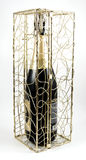 Champagne in einem Geschenkkasten Stockbild