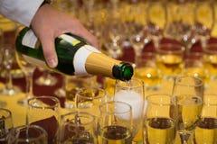 Champagne em um vidro foto de stock