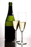 Champagne en fluit Stock Foto's