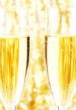 Champagne en goud Stock Afbeelding