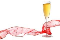 Champagne en Lint stock fotografie