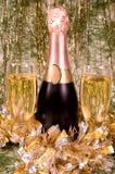 Champagne en Nieuw jaar Stock Foto