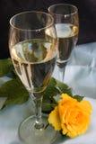 Champagne en verre Photo stock