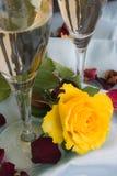 Champagne en verre Photographie stock